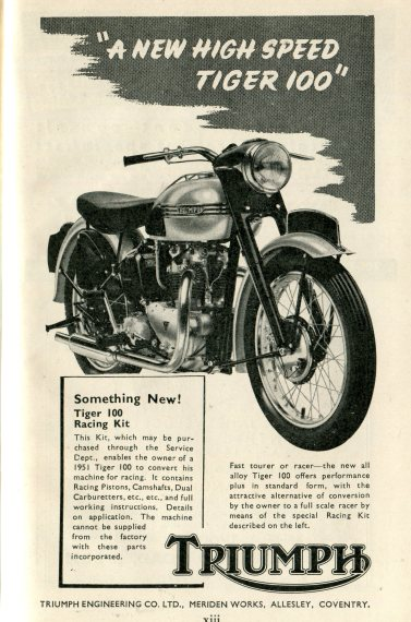 Triumph Tuning for Speed - 1951