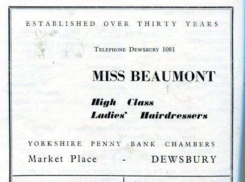 Dewsbury 1952 Miss Beaumont 133